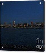 Long Beach Skyline At Night Acrylic Print