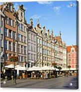 Long Market In Gdansk Acrylic Print