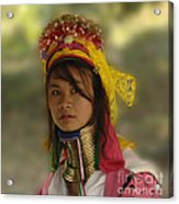 Long Neck Beauty Karen Tribe Acrylic Print