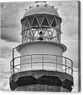 Long Point Lighthouse - Black And White Acrylic Print