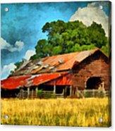 Long Road Barn Acrylic Print