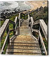 Long Stairway To Beach Acrylic Print