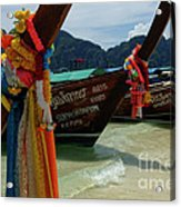 Long Tail Boats Acrylic Print