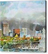 Longfellow Bridge Boston Acrylic Print