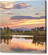 Longs Peak Evening Sunset View Acrylic Print