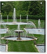 Longwood Fountains 3 Acrylic Print