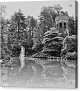 Longwood Gardens Castle In Black And White Acrylic Print