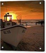 Lonstrup Sunset Acrylic Print