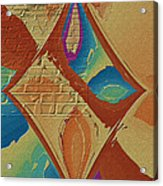 Look Behind The Brick Wall Acrylic Print by Deborah Benoit