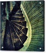Looking Down An Old Staircase Acrylic Print