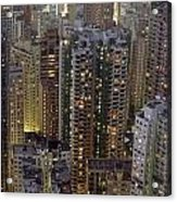 Looking Down On Crowded Residential Acrylic Print