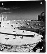 Looking Down On Main Arena Of Old Roman Colloseum El Jem Tunisia Acrylic Print
