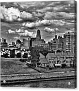 Looking Downtown From The Erie Basin Marina Acrylic Print