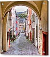 Looking Through Graach Gate - Colour Acrylic Print