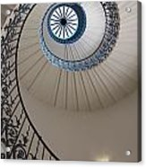 Looking Up At A Spiral Staircase Acrylic Print