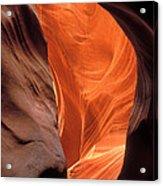 Looking Up At Antelope Canyon Acrylic Print