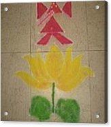 Lord Ganesh Rangoli Acrylic Print