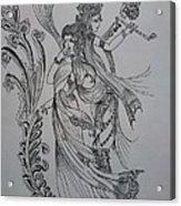 Lord Krishna Acrylic Print by Aditya Sarawagi