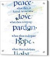 Lord Peace Acrylic Print