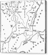 Lorraine And Alsace: Map Acrylic Print