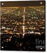 Los Angeles At Night 2 Acrylic Print