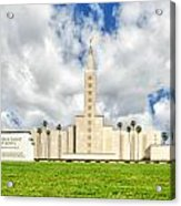 Los Angeles Temple Front Acrylic Print