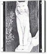 Los Gatos Cat Statue Leo Acrylic Print