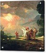 Lot Fleeing From Sodom Acrylic Print