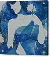 Lotus Blues Acrylic Print