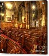 Loughborough Church Pews Acrylic Print