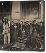Louis Firetail, Wearing Sioux Tribal Acrylic Print