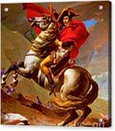 Louis Napoleon At The St Bernard Pass Acrylic Print