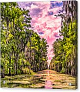 Louisiana Bayou Sunrise Acrylic Print