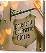 Love At The Patisserie Acrylic Print by Georgia Fowler