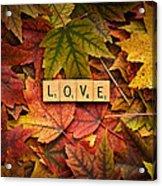 Love-autumn Acrylic Print