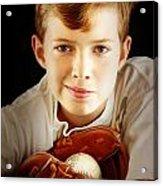 Love Baseball Acrylic Print