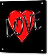 Love Black And Red 1 Acrylic Print