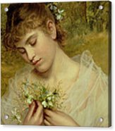 Love In A Mist Acrylic Print by Sophie Anderson