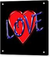 Love In Blue And Red Acrylic Print