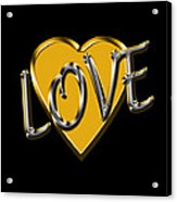 Love In Gold And Silver Acrylic Print