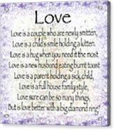 Love Poem In Purple  Acrylic Print