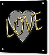 Love In Silver And Gold  Acrylic Print