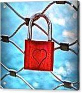 Love Lock And Memories Acrylic Print