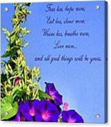 Love More Acrylic Print