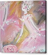 Love Rose Ballet Acrylic Print by Judith Desrosiers