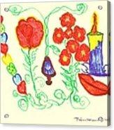 Love Symbols Acrylic Print