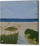 Lovebirds At The Beach Acrylic Print
