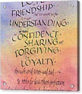 Lovefriendship Acrylic Print
