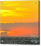 Lovely Sunset Over The Sea Acrylic Print