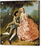 Lovers In A Landscape Acrylic Print